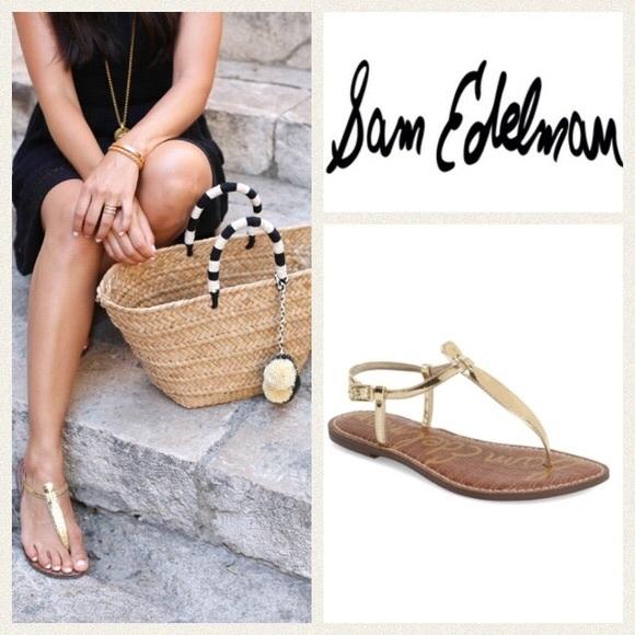 e776223b7d0c6 Sam Edelman Gigi Gold Boa Print T Strap Sandals. M 5acfbd0872ea88f9bc28dc20